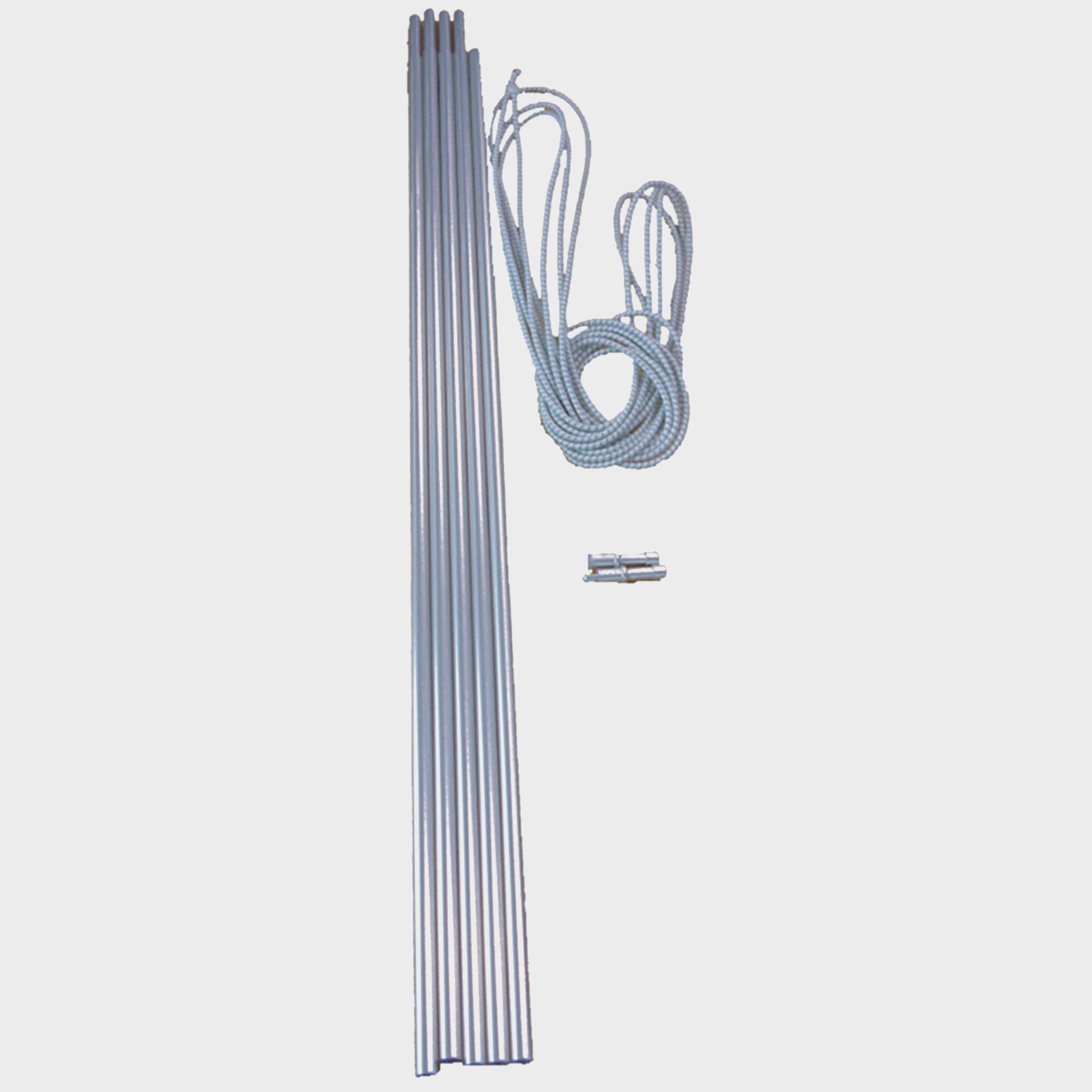 Vango Vango Alloy Corded 9.5mm Tent Pole Set - Silver, Silver