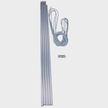 Silver VANGO Alloy Corded 9.5mm Tent Pole Set