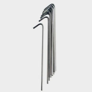 Silver VANGO 18cm Steel Pegs - 10 Pack