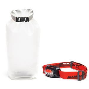 MAMMUT T-Trail LED Head Torch and Ambient Dry Light Bag