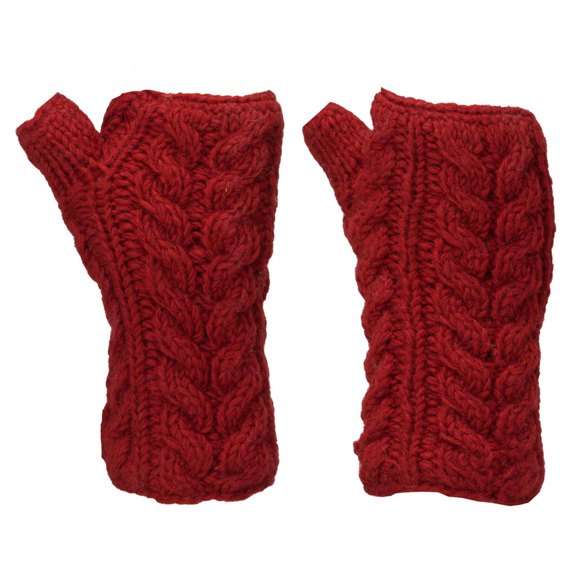 KUSAN Women's Cable Knit Handwarmers