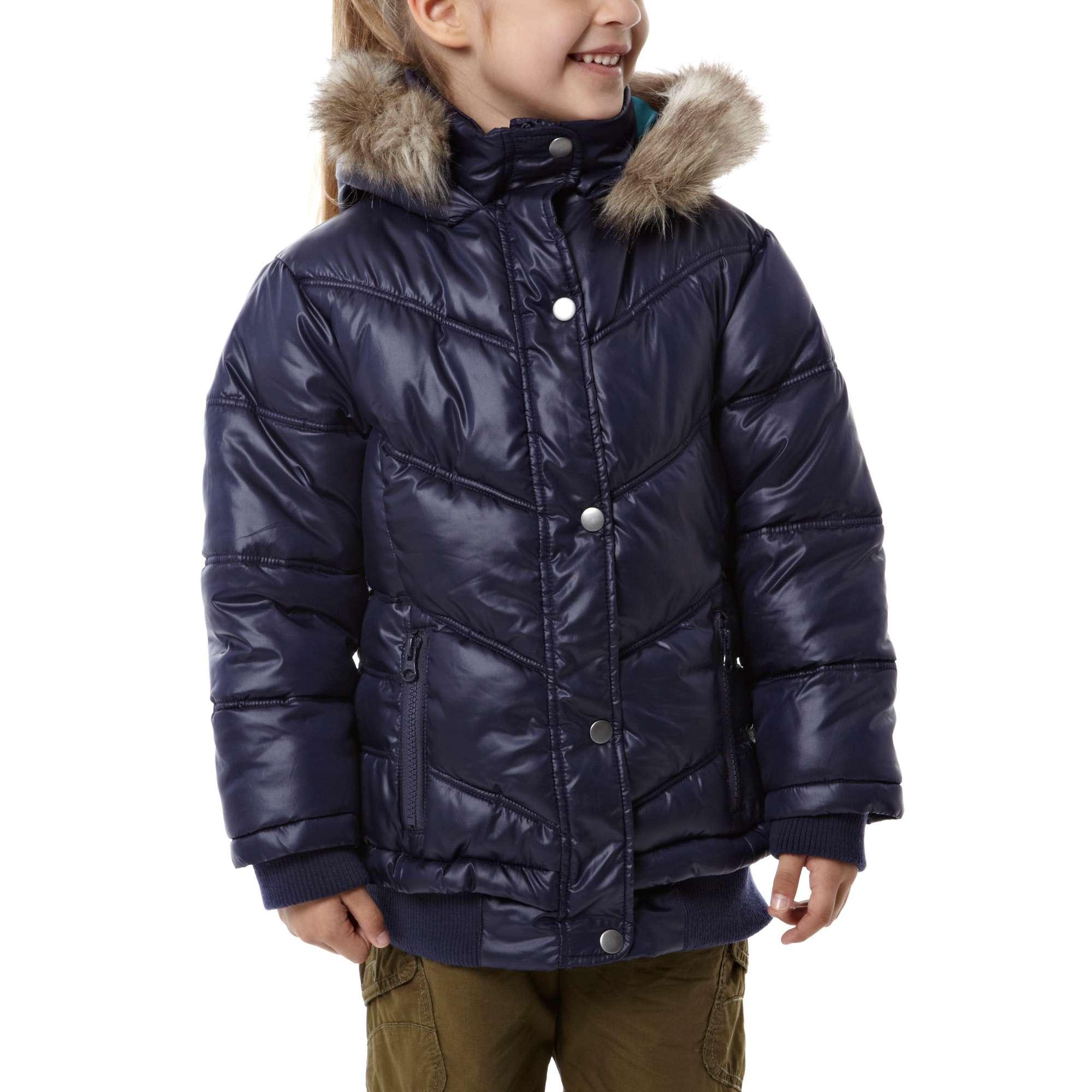 PETER STORM Girl's Rib Hem Baffle Jacket