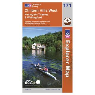 Explorer 171 Chiltern Hills West Area Map