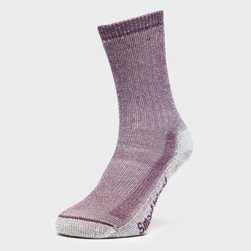 Purple Smartwool Women's Hiking Medium Crew Socks