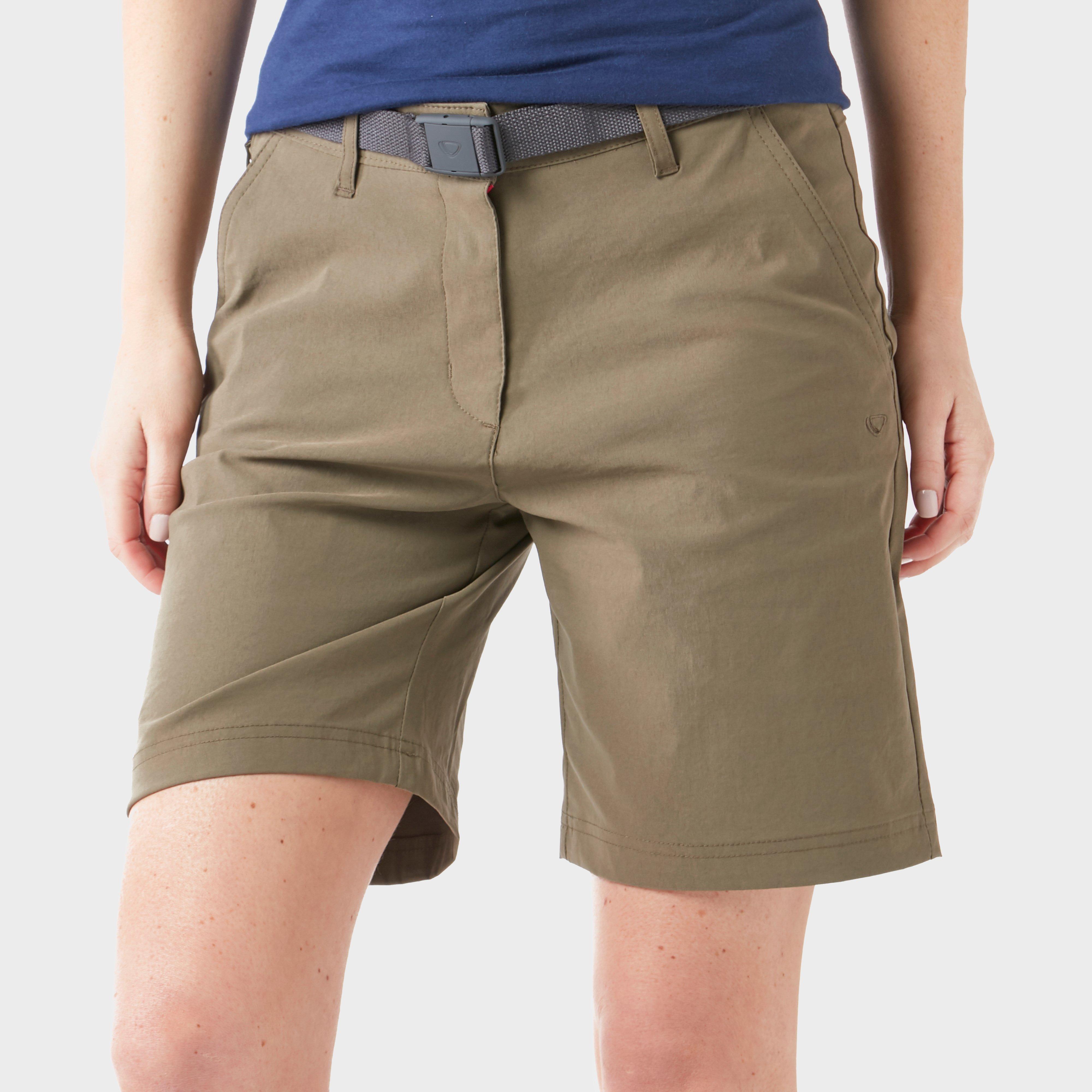Brasher Brasher Womens Stretch Shorts - Khaki, Khaki