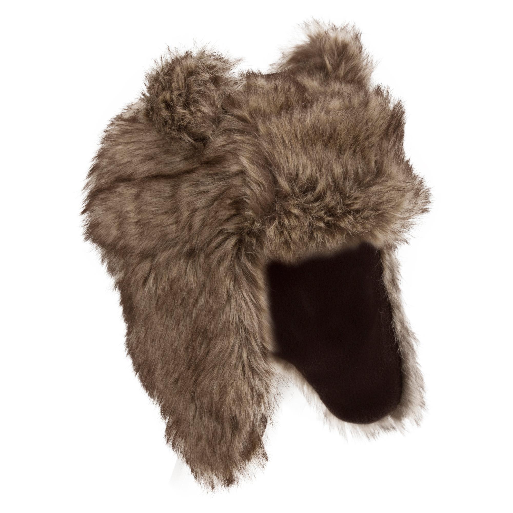 Peter Storm Girls Matilda Fur Trapper Hat Brown