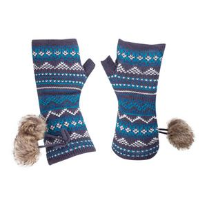 ALPINE Women's Fairisle Knitted Armwarmers