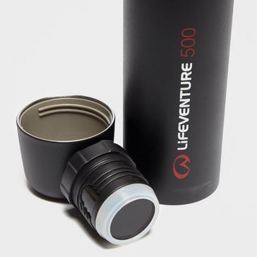 Black LIFEVENTURE Vacuum Flask 500