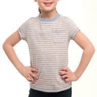 Girl's Neppy Yarn Pocket T-Shirt