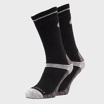 Black Peter Storm Men's Midweight Coolmax Hiking Socks - 2 Pack