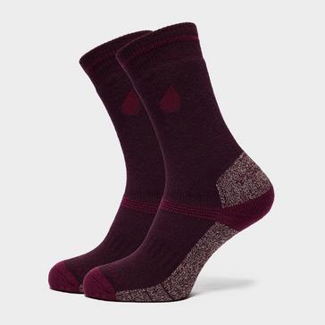 Purple Peter Storm Women's Midweight Coolmax Hiking Socks - 2 Pack