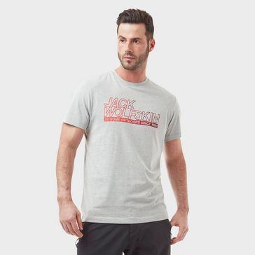 1519dd1ce7 JACK WOLFSKIN Men's Large Logo Ocean T-Shirt ...