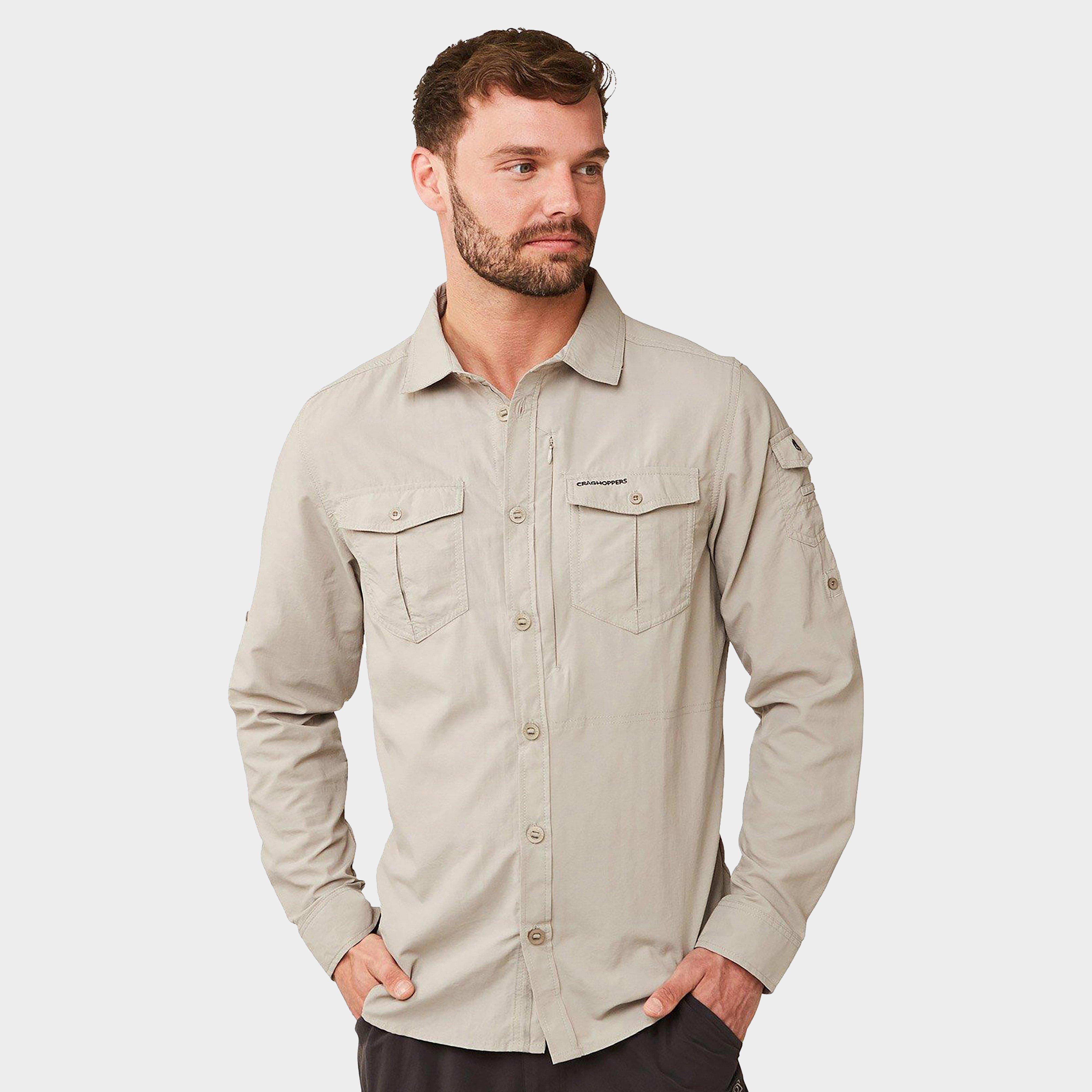 Craghoppers Craghoppers Mens NosiLife Adventure II Long Sleeve Shirt - Beige, Beige