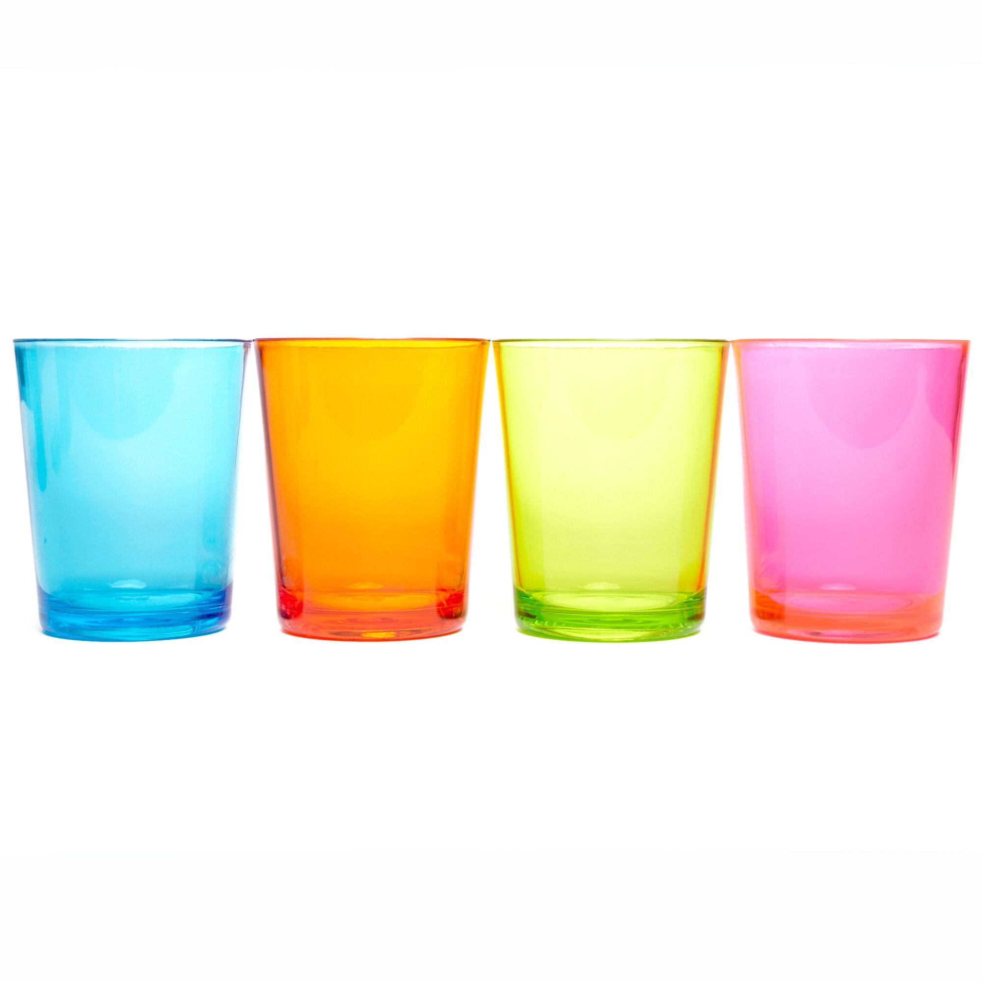 EUROHIKE Plain Tumbler Glasses - 4 Pack