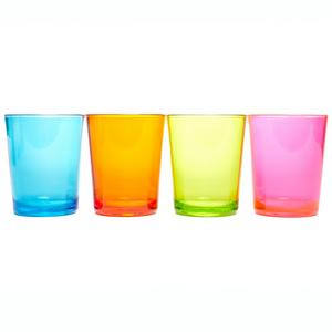 EUROHIKE Plain Tumbler Glasses - 4 Pack