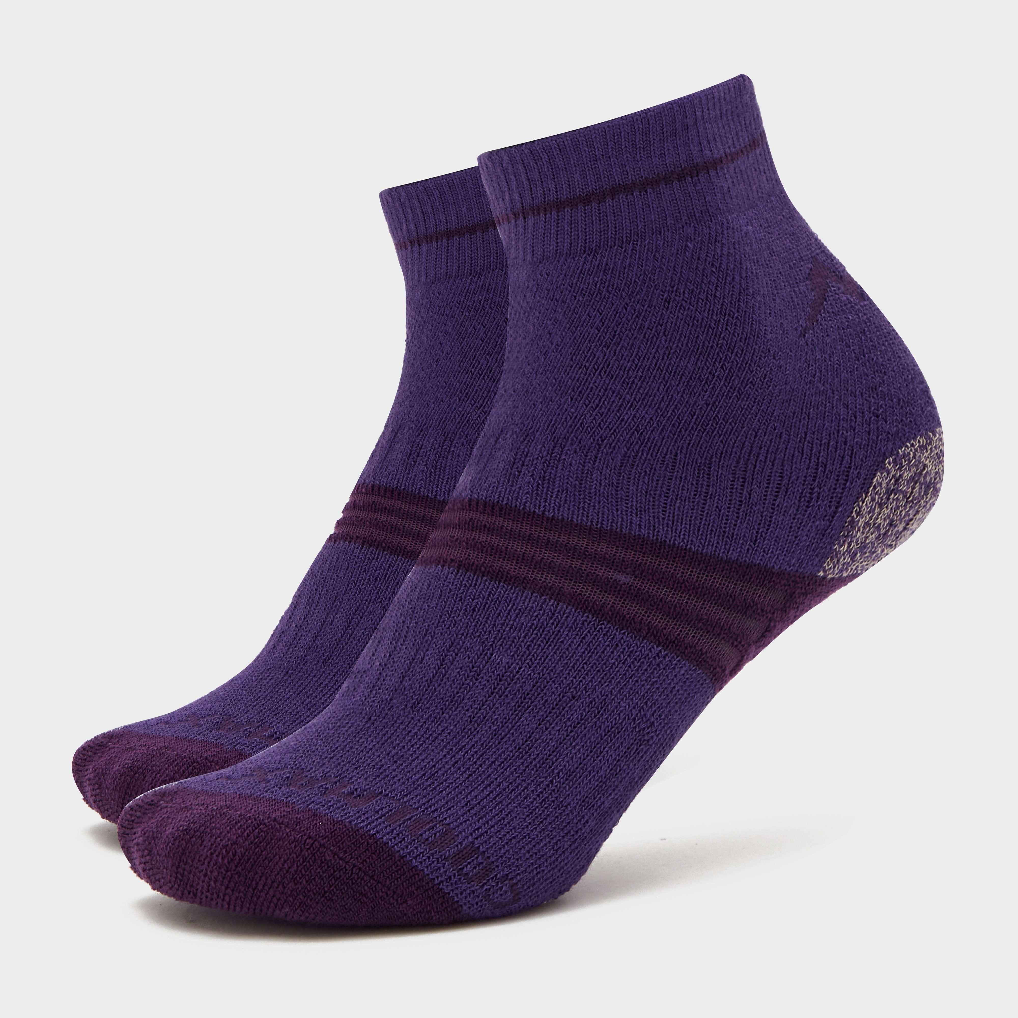 PETER STORM Girls' Midweight Trekking Sock - Twin Pack