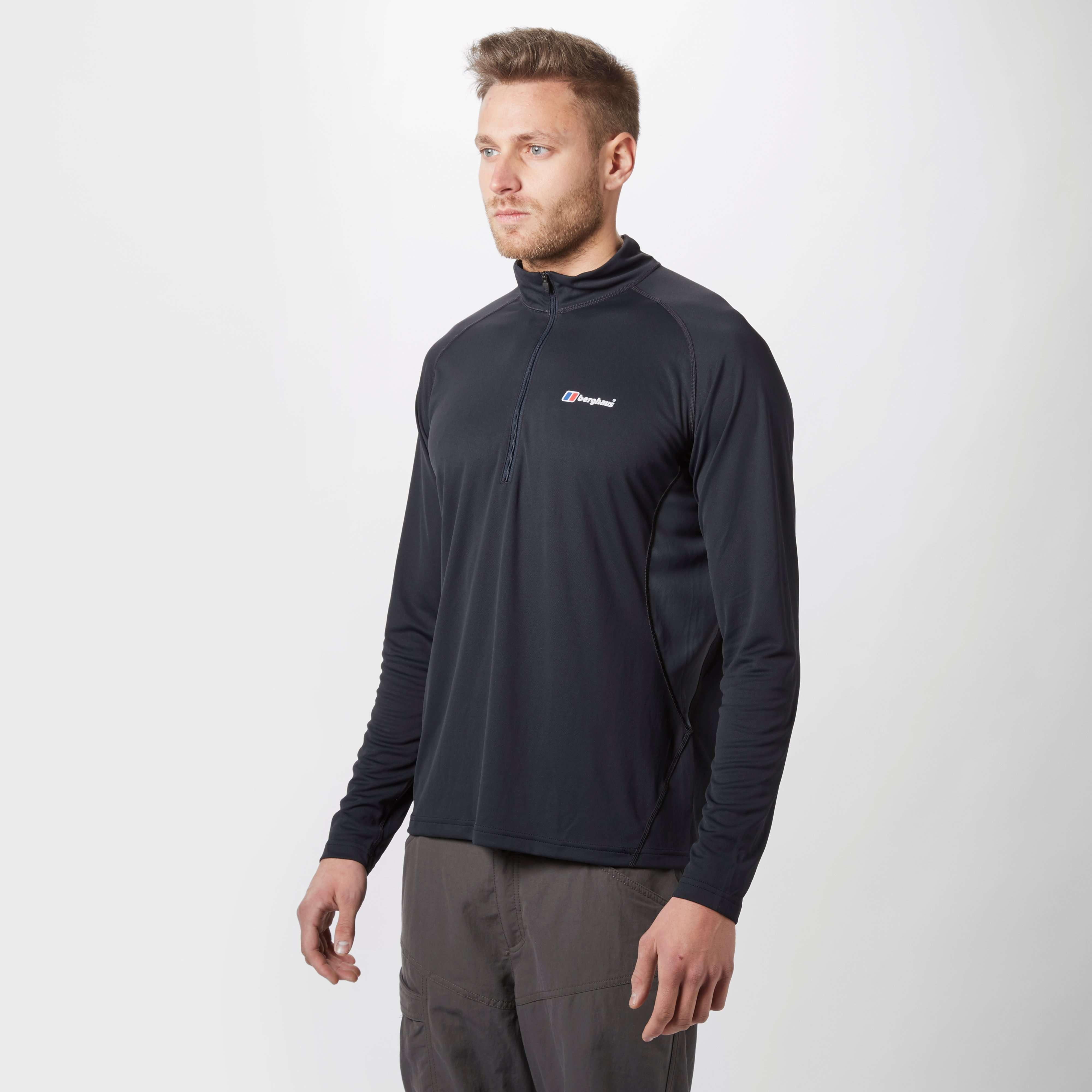 BERGHAUS Men's Tech Long Sleeved Zip T-Shirt