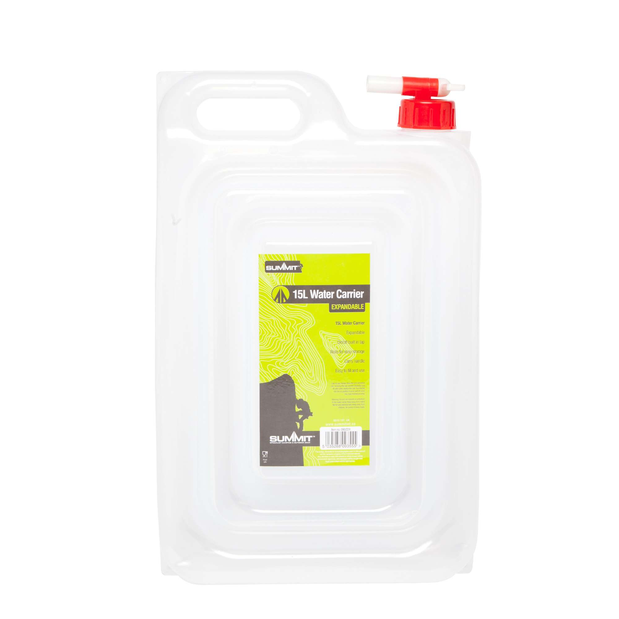 SUMMIT 15ltr Expandable Water Carrier