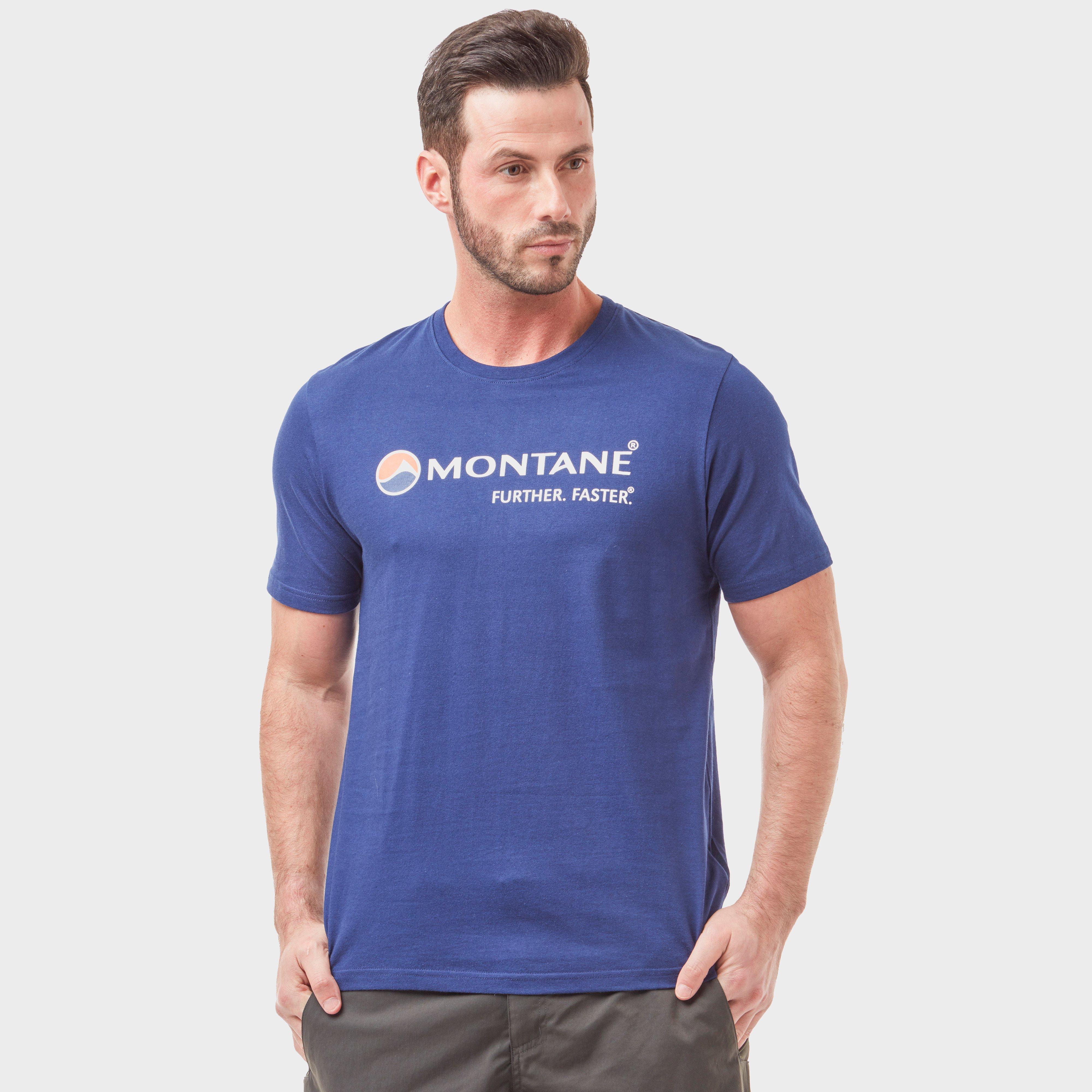 Montane Montane Mens Logo Tee - Blue, Blue