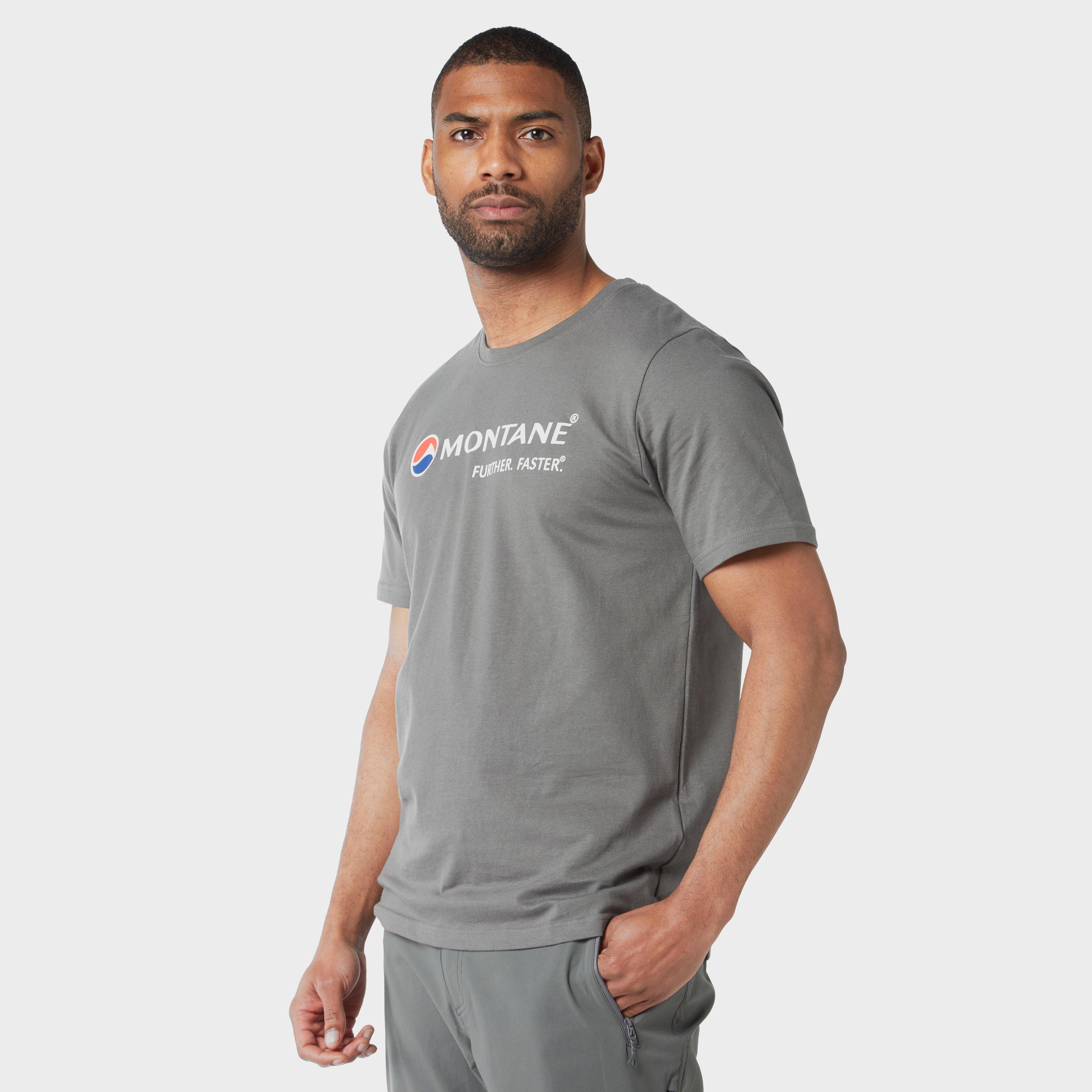 Montane Montane Mens Logo Tee - Grey, Grey