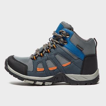 Grey|Grey Peter Storm Boys' Headley Waterproof Mid Walking Boot