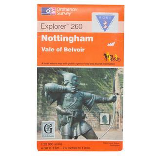 Explorer 260 Nottingham Map