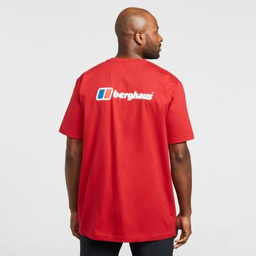 Red Berghaus Back Logo Short Sleeve T-Shirt