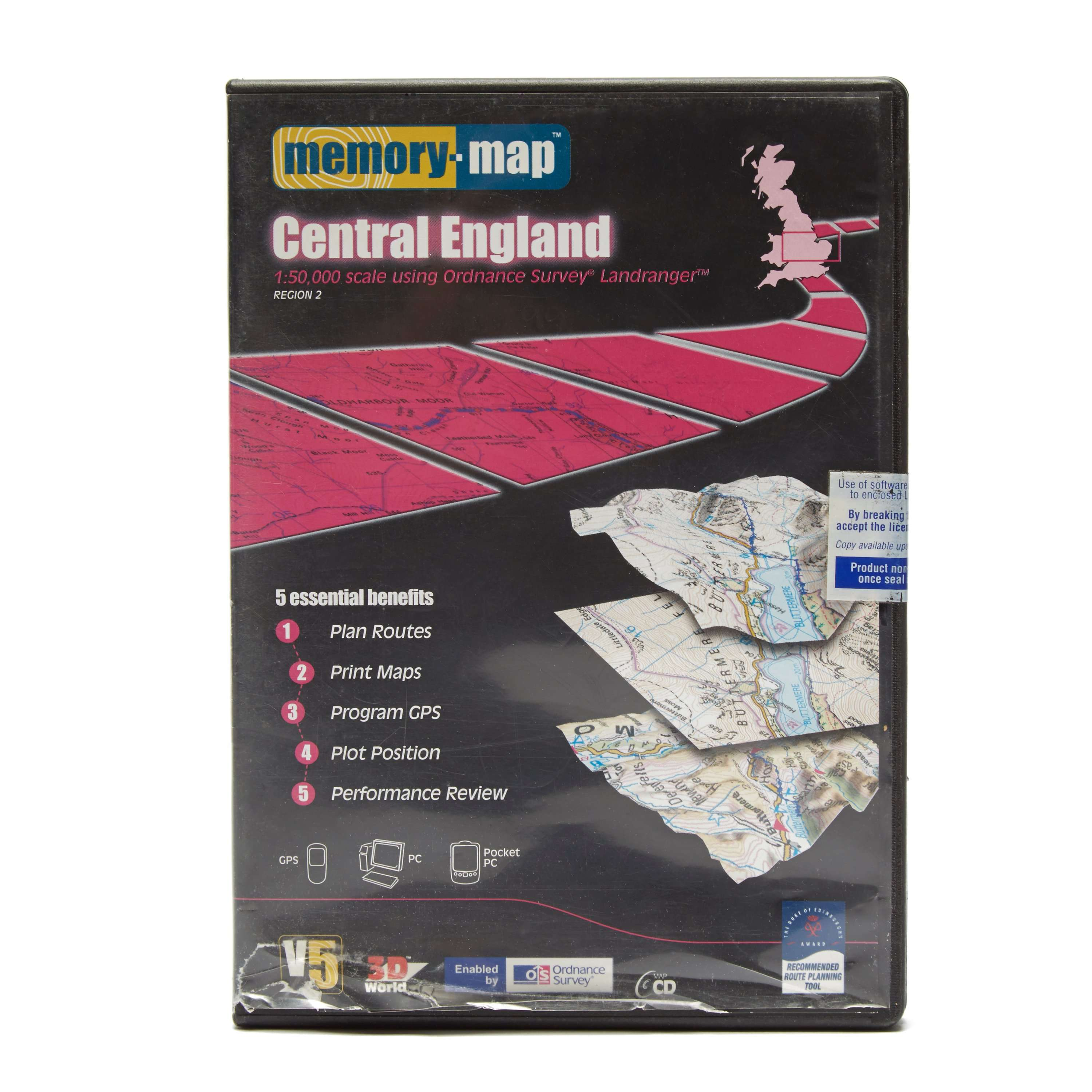 ANQUET OS Landranger Central England DVD Map