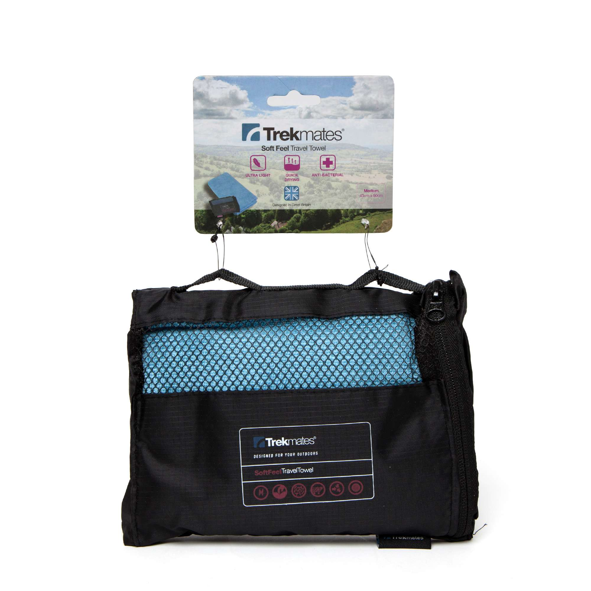 TREKMATES Soft Feel Travel Towel Medium