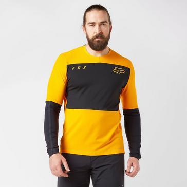 Orange FOX Men's Defend Delta™ Long Sleeve Jersey