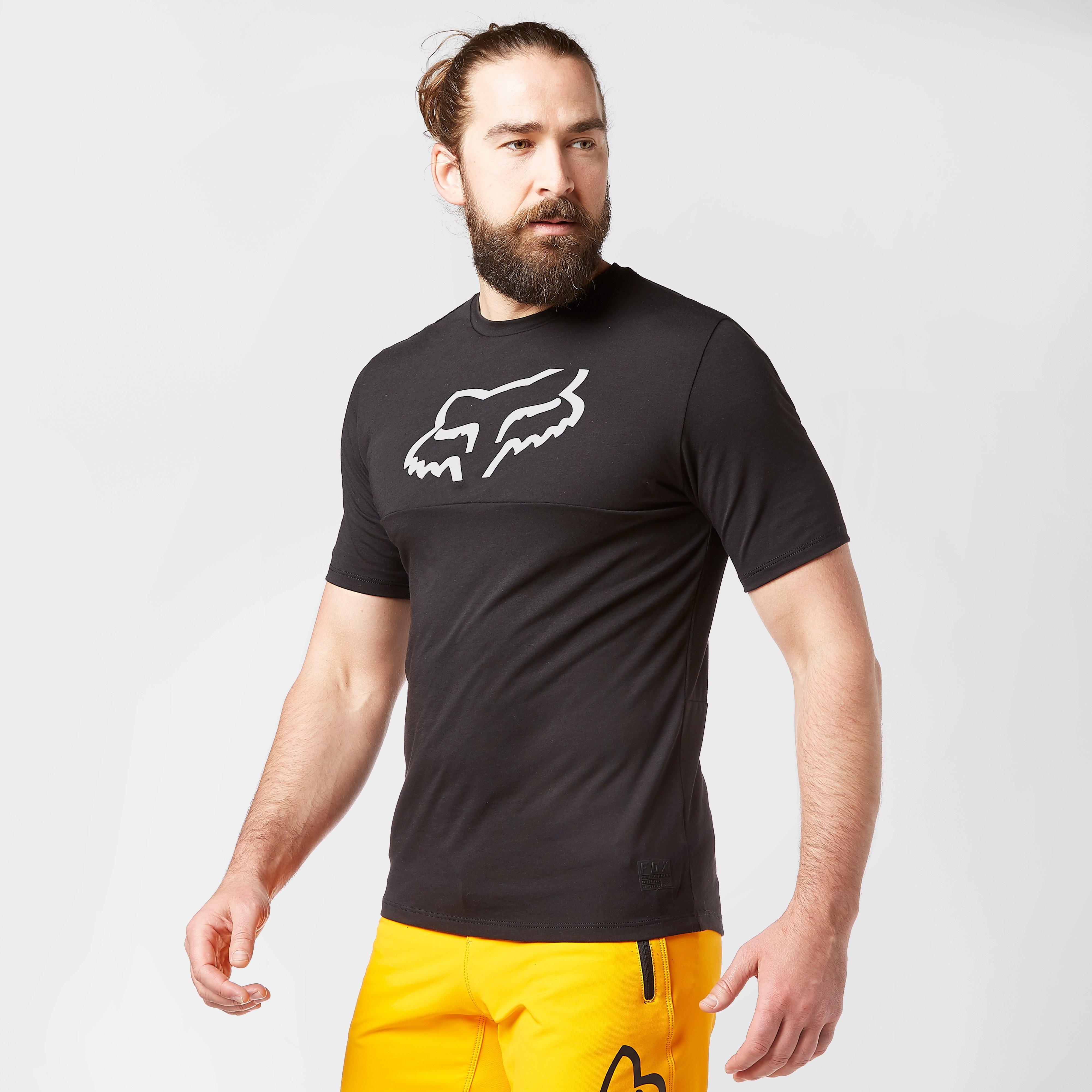 FOX Fox Mens Ranger drirelease Short Sleeve Jersey - Black, Black