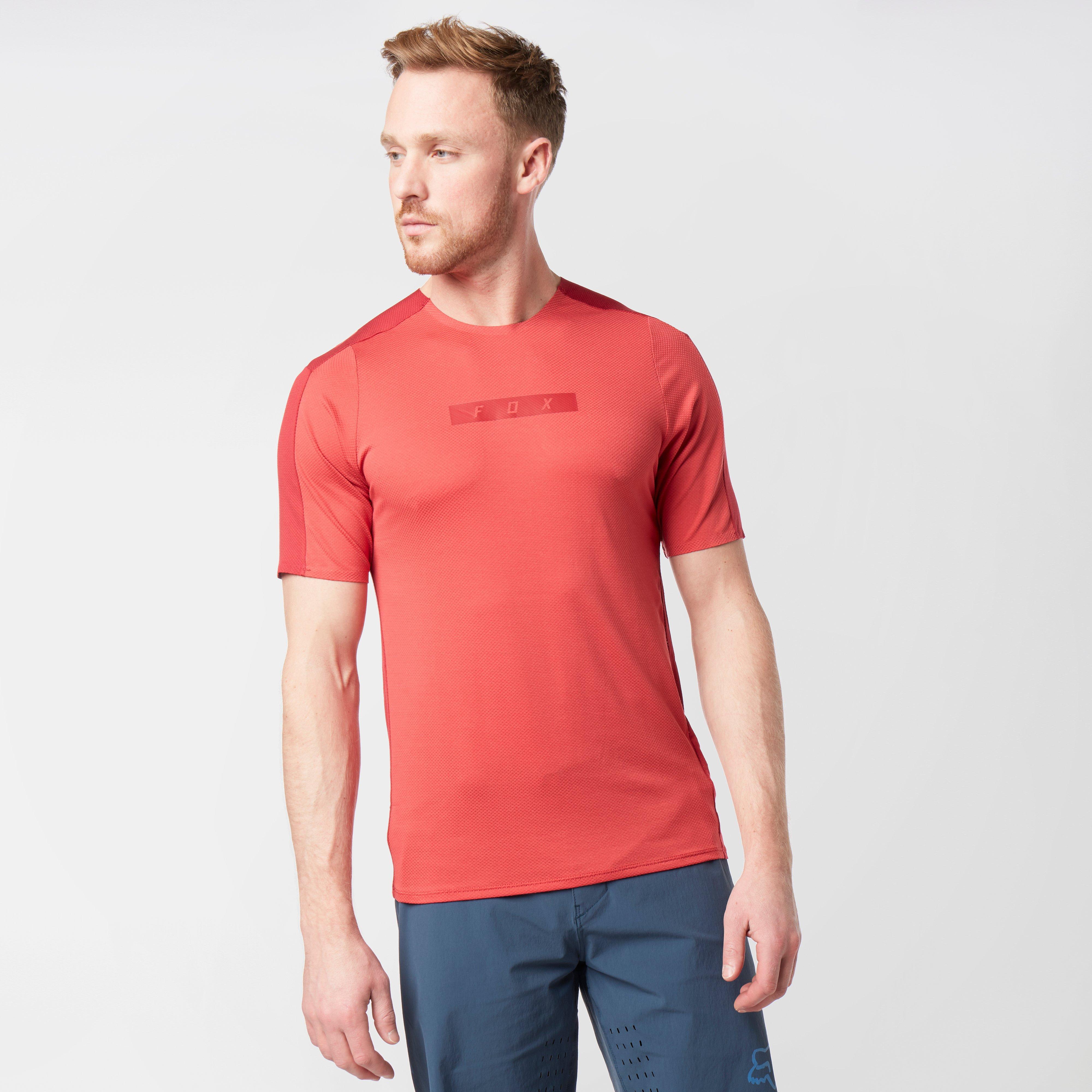 FOX Fox Mens Flexair Delta Short Sleeve Jersey - Red, Red