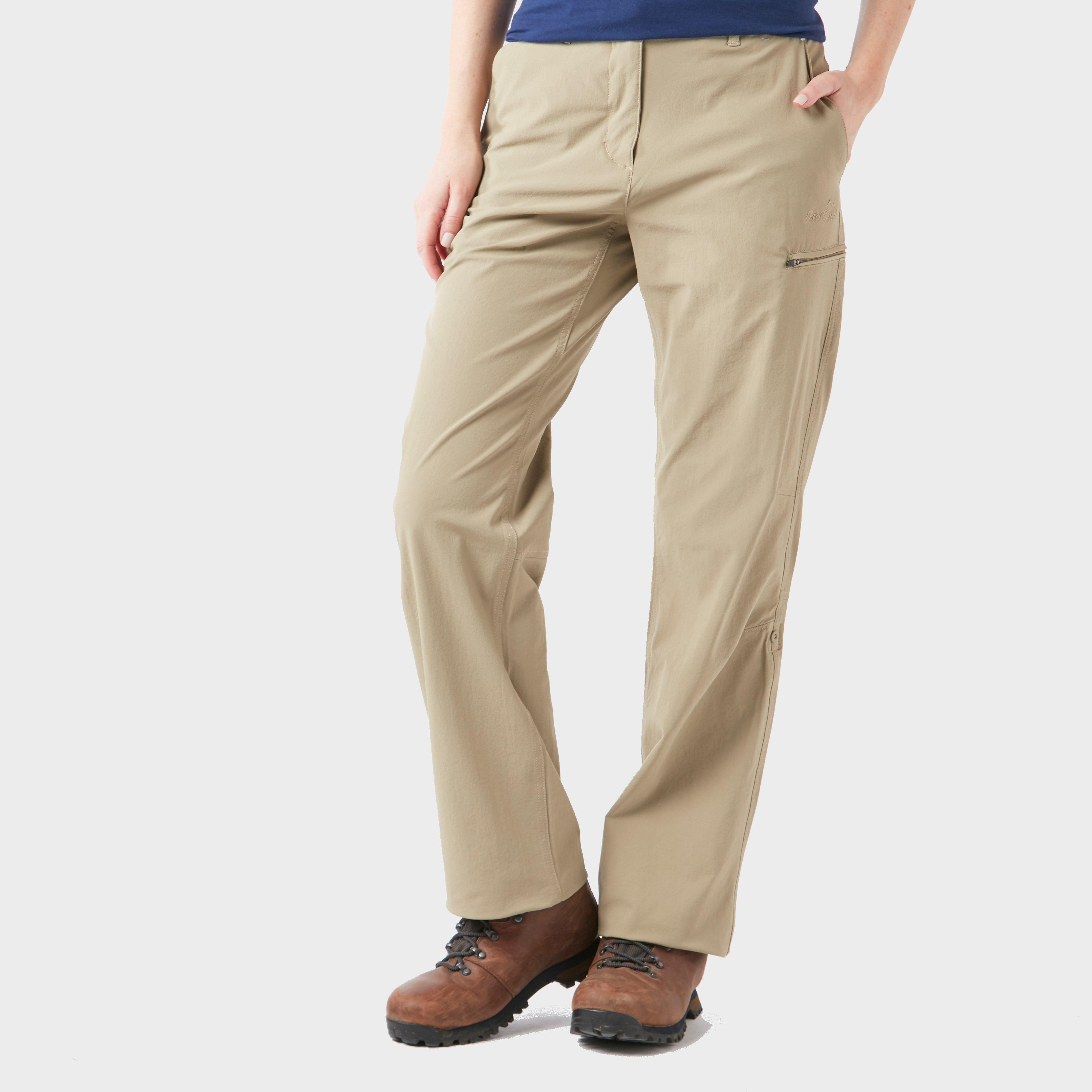 Peter Storm Peter Storm womens Stretch Roll Up Trousers - Beige, Beige