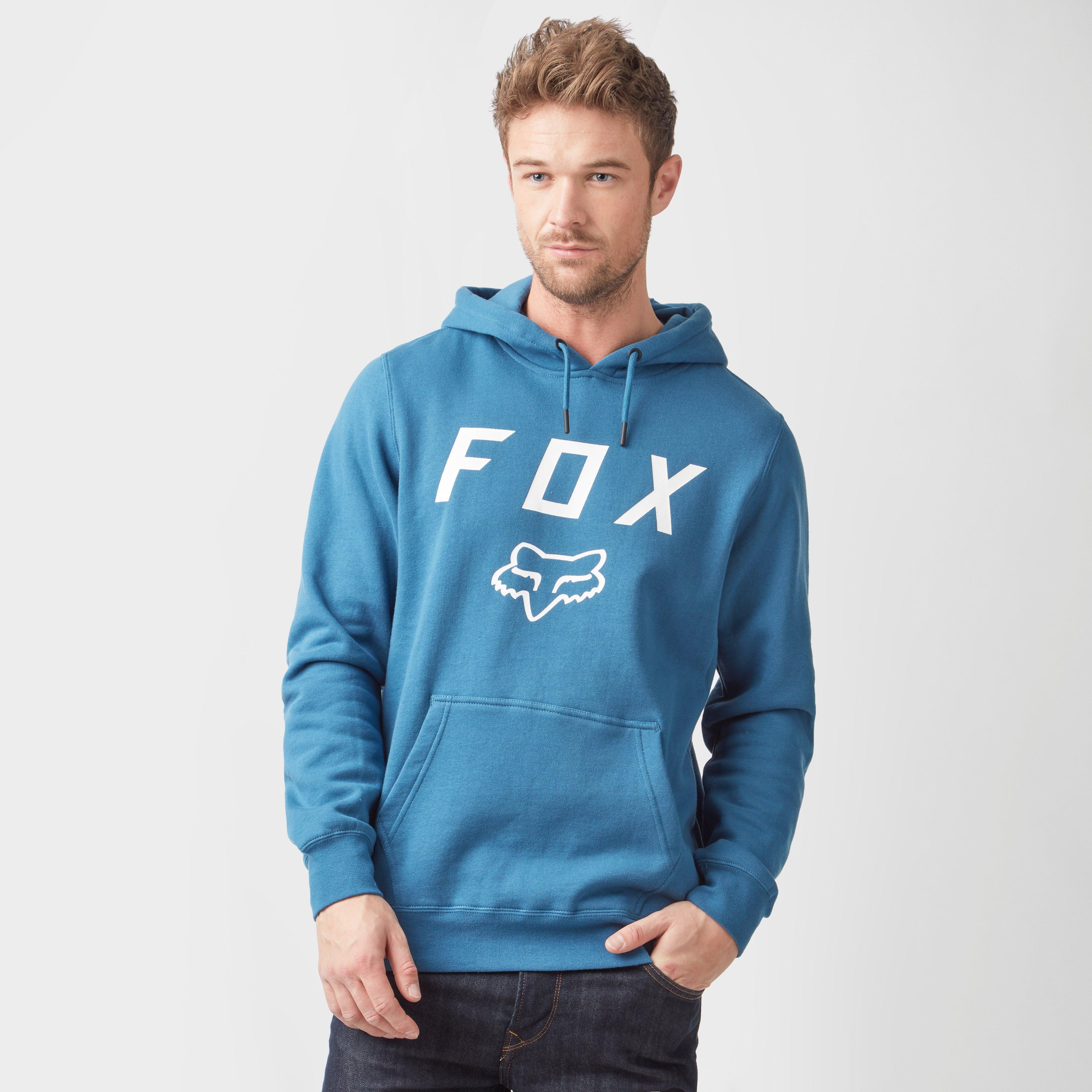 FOX Fox Mens Legacy Moth Hoodie - Blue, Blue