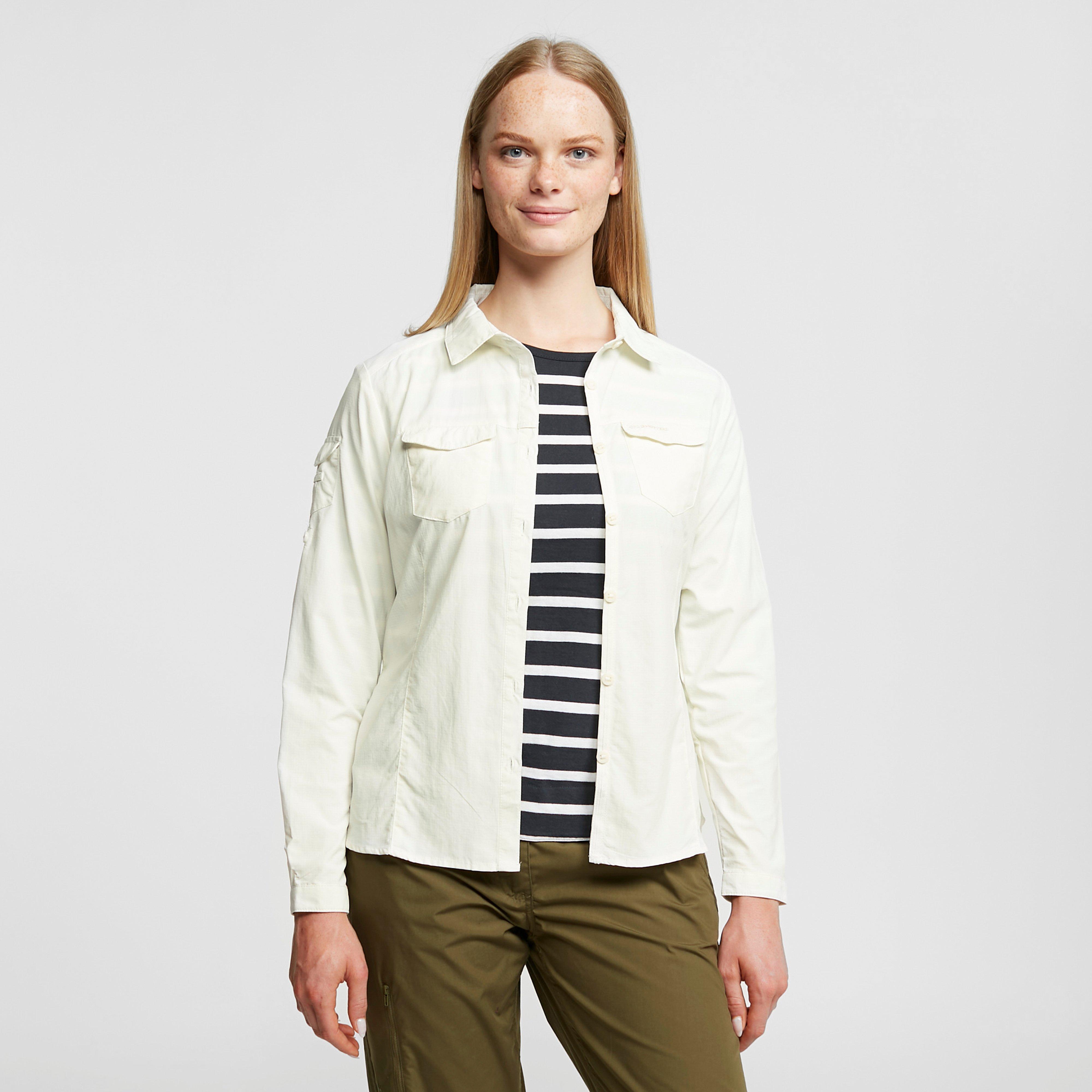 Craghoppers Women's Nosilife Adventure Ii Long Sleeved Shirt - Beige/Bge, Beige