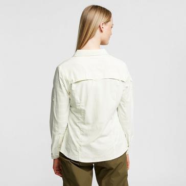 White Craghoppers Women's NosiLife Adventure II Long Sleeved Shirt