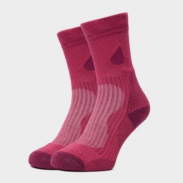 Pink Peter Storm Women's Lightweight Outdoor Socks - Twin Pack