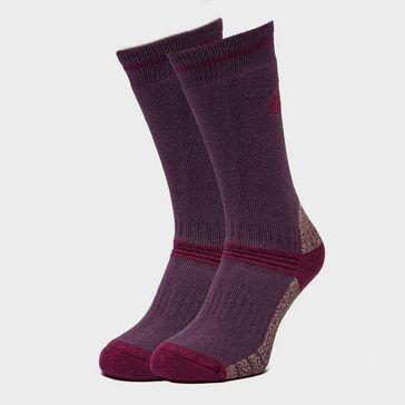 54627cc6e97fc Purple PETER STORM Women's Heavyweight Outdoor Socks - Twin Packs ...