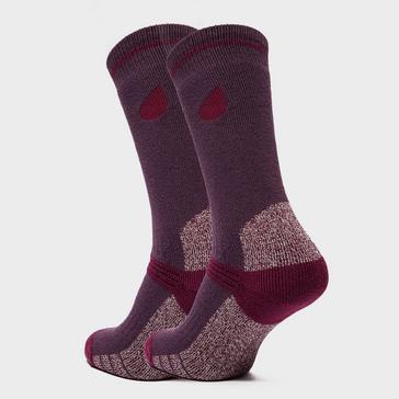 Purple Peter Storm Women's Heavyweight Outdoor Socks - Twin Packs