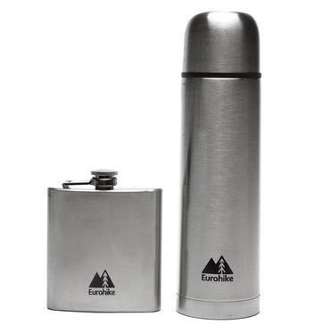 Silver Eurohike 0.5L Flask And Hip Flask