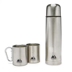 EUROHIKE 0.75L Flask & 2 Carabiner Mugs