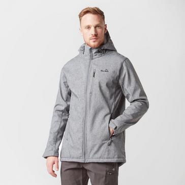 Grey|Grey Peter Storm Men's Textured Softshell Jacket