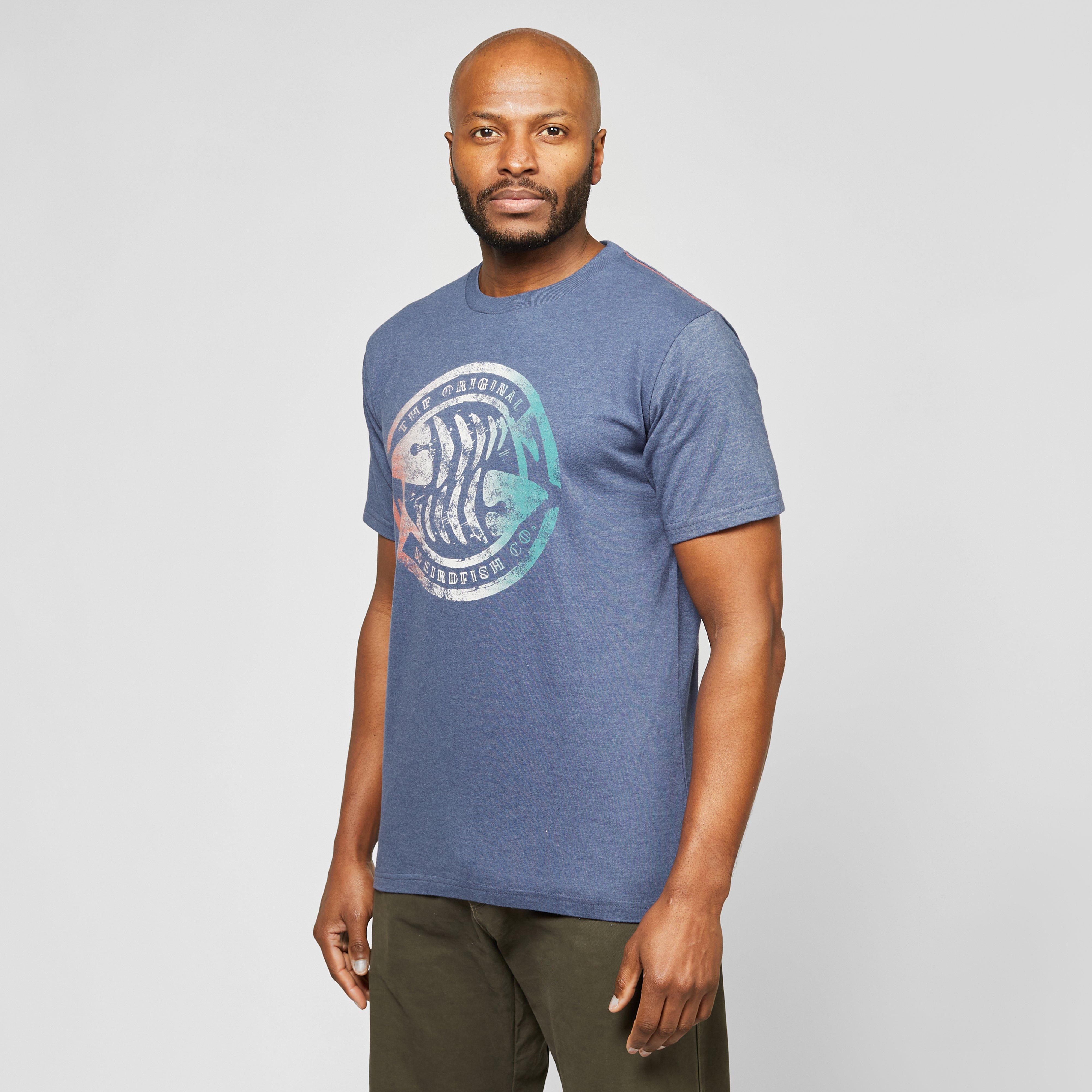 Weird Fish Weird Fish Mens Summer Surf T-Shirt, Blue