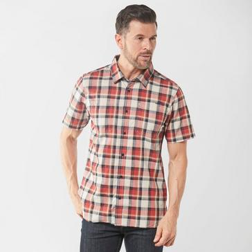 Weird Fish Men's Clane Slub Check Short Sleeve Shirt
