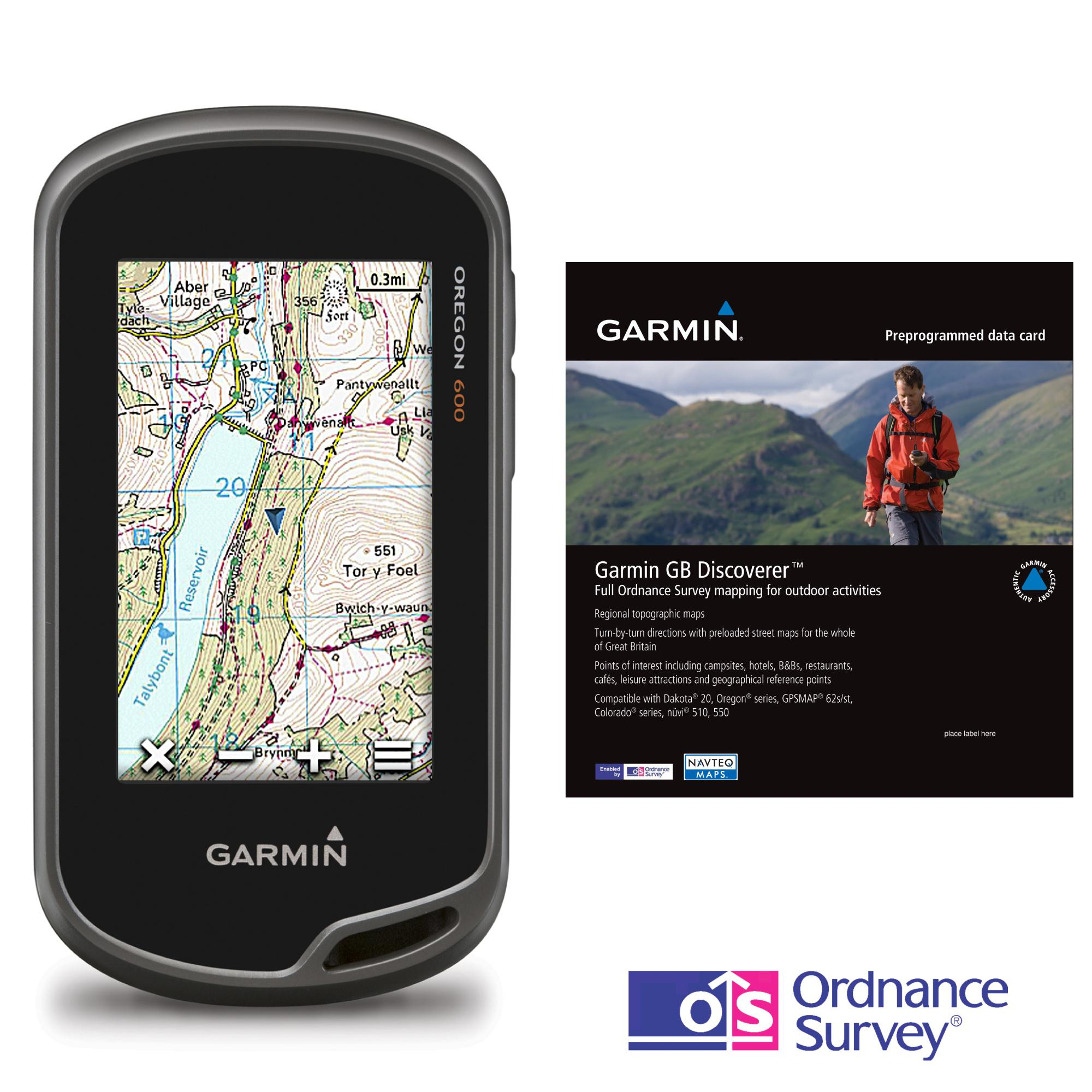 GARMIN Oregon 600 GPS Discoverer Bundle with GB 150K Map Blacks