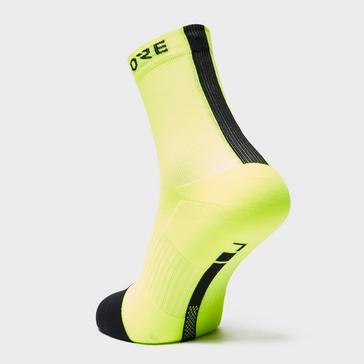 Yellow Gore Men's Mid Socks