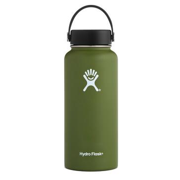 Green Hydro Flask 32oz Wide Mouth Flask