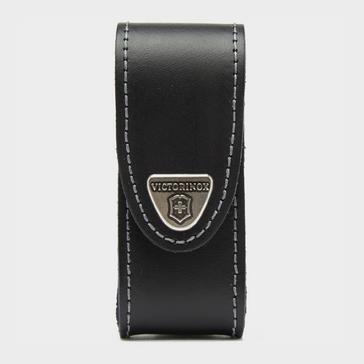 Black Victorinox 2-4 Layer Leather Belt Pouch