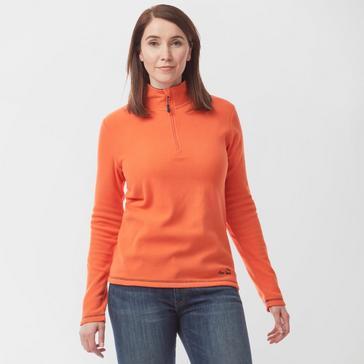Orange Peter Storm Women's Grasmere ½ Zip Fleece