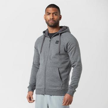 Grey Under Armour Men's Rival Full-Zip Fleece Hoodie